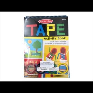🆕 Melissa and Doug Tape Activity Book and 4 Rolls